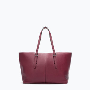 zara shopper marsala